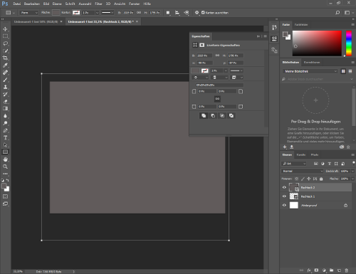 Screenshot von Adobe Photoshop CC