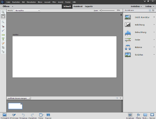 Screenshot von Adobe Photoshop Elements